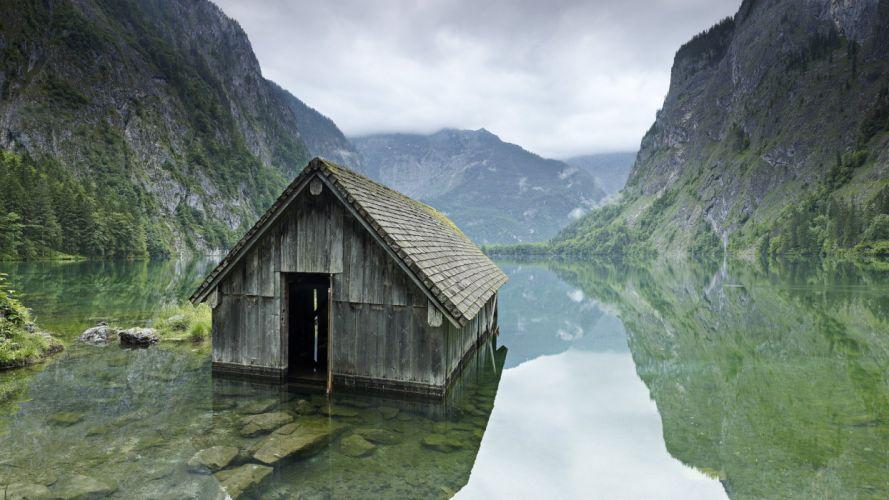 Germany fishing hut National Park wallpaper