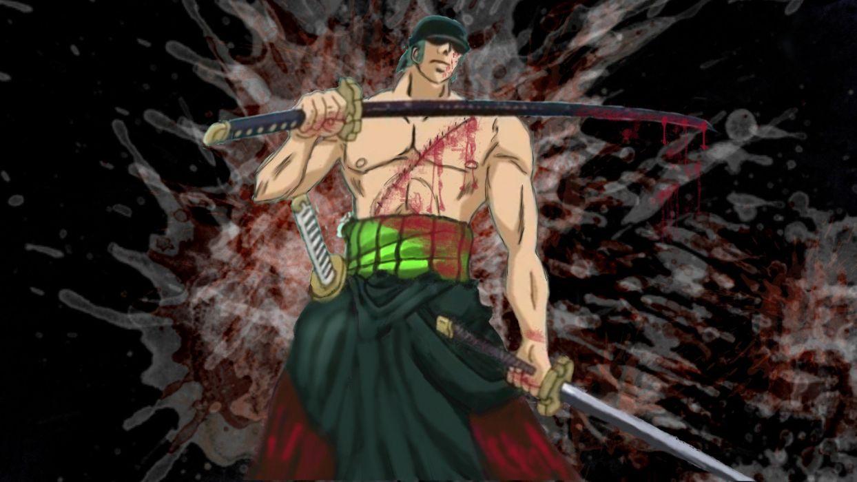 One Piece (anime) Roronoa Zoro swords wallpaper