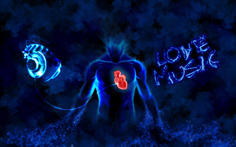 Love Music Hearts Wallpaper