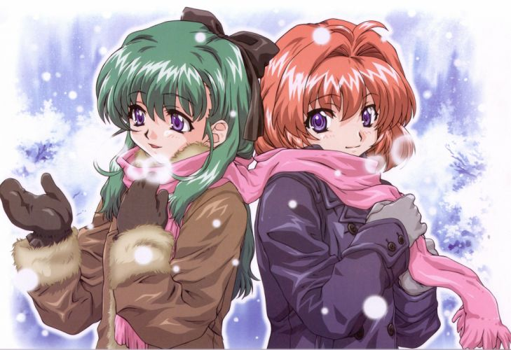 Karen Onegai Twins anime girls Miyafuji Miina Onodera Karen wallpaper