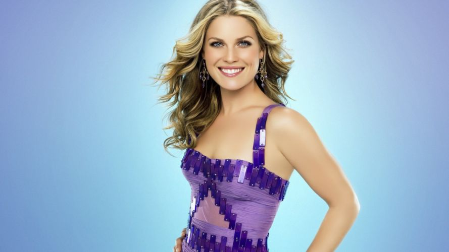 blondes women blue eyes celebrity Ali Larter purple dress wallpaper