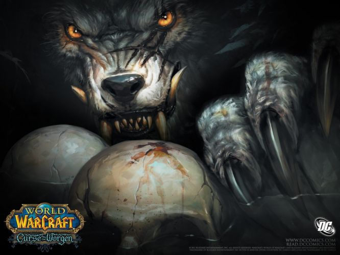 World of Warcraft comics Worgen World of Warcraft: Cataclysm Curse of the worgen werewolves wallpaper