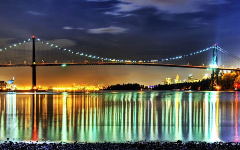 bridges HDR photography wallpaper
