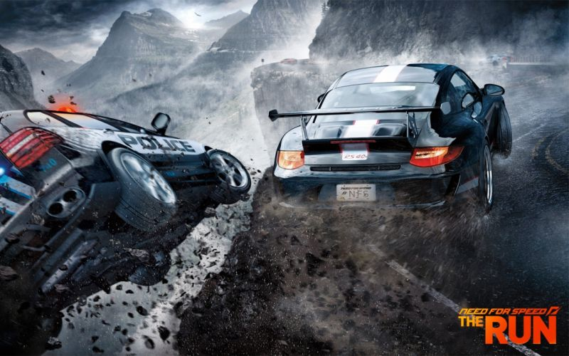 video games streets cars police cliffs Need for Speed The Run games wallpaper