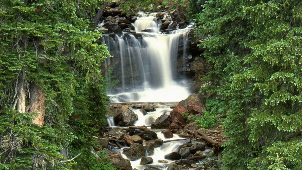 forests national Colorado waterfalls wallpaper
