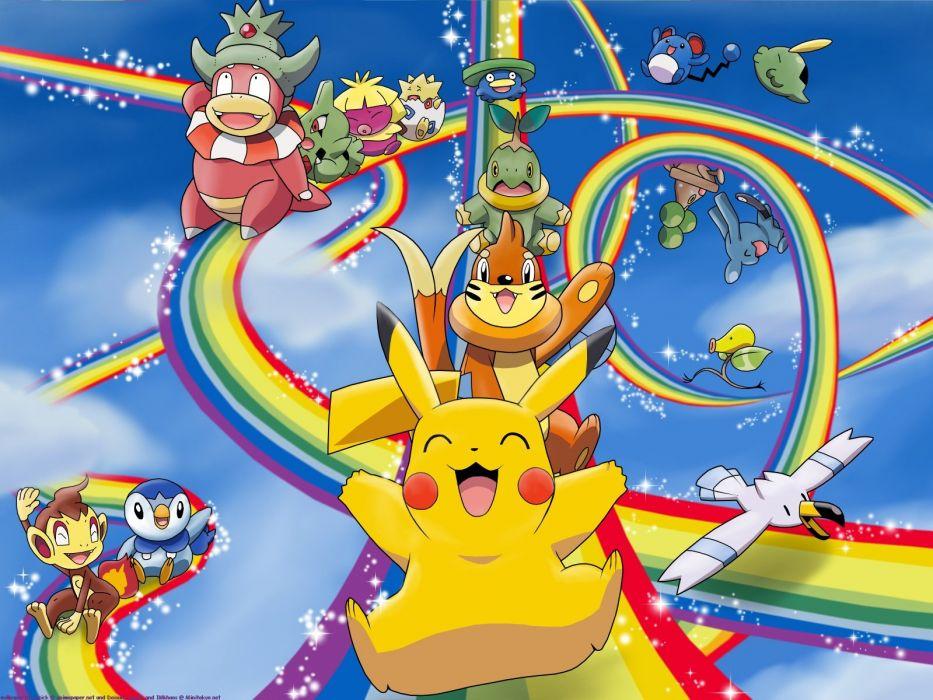 Pokemon Pikachu rainbows wallpaper