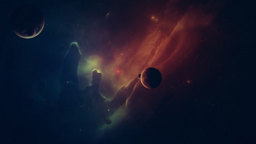 outer space stars galaxies planets nebulae space wallpaper