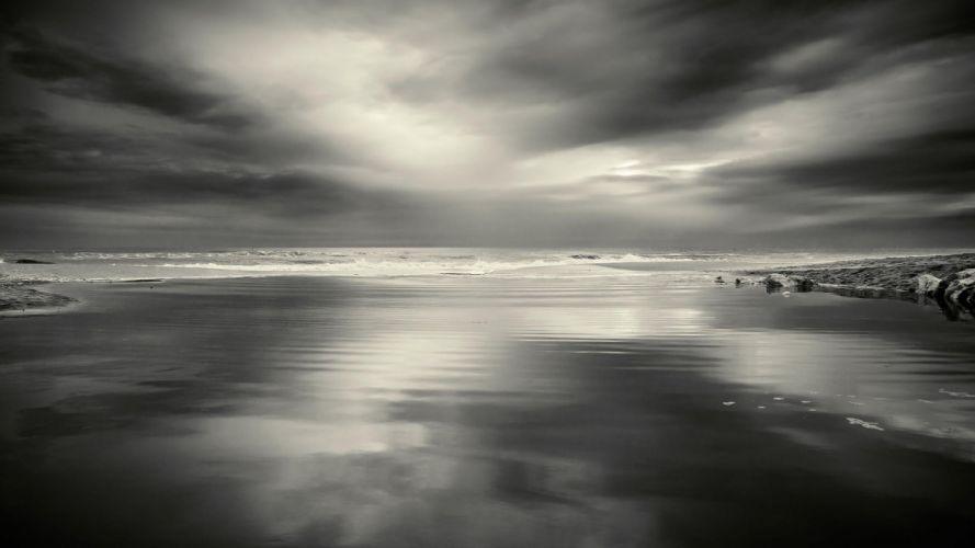 storm calm sea wallpaper