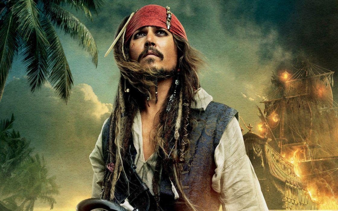 Pirates of the Caribbean Johnny Depp Captain Jack Sparrow wallpaper