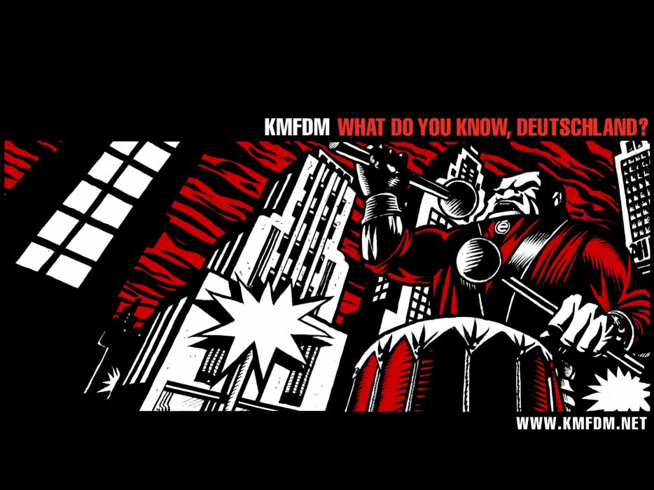 music bands album covers KMFDM Industrial music wallpaper