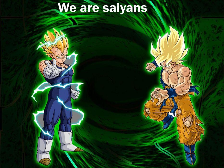 Vegeta Son Goku Saiyans Dragon Ball Z wallpaper