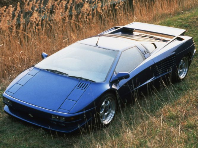 cars vehicles blue cars Cizeta-Moroder V16T Cizeta Automobili front angle view wallpaper