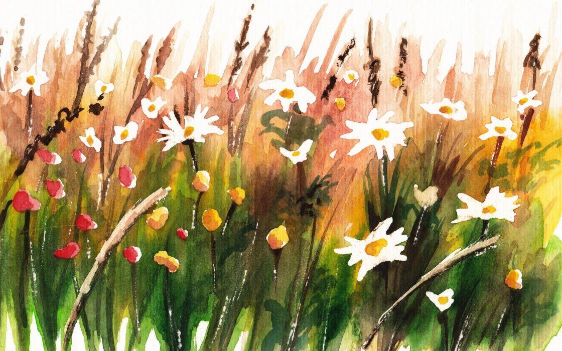 paintings flowers artwork wallpaper