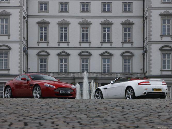 cars Aston Martin vantage roadster Aston Martin V8 Vantage Aston Martin V8 Vantage Roadster wallpaper