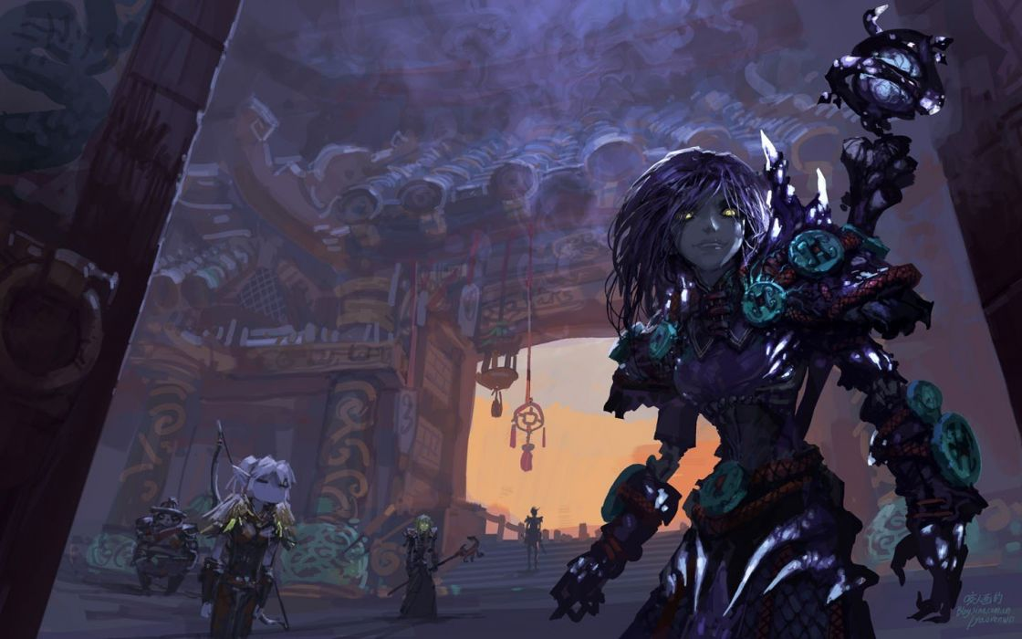 World Of Warcraft Purple Fantasy Art Artwork Warlock