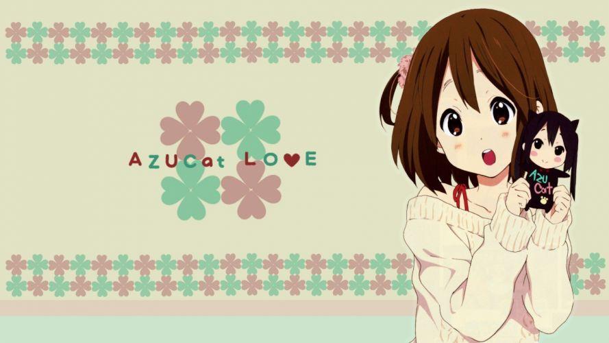 K-ON! white Hirasawa Yui Nakano Azusa anime girls wallpaper