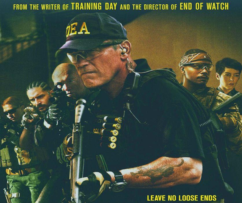 SABOTAGE action crime drama movie film weapon gun poster wallpaper