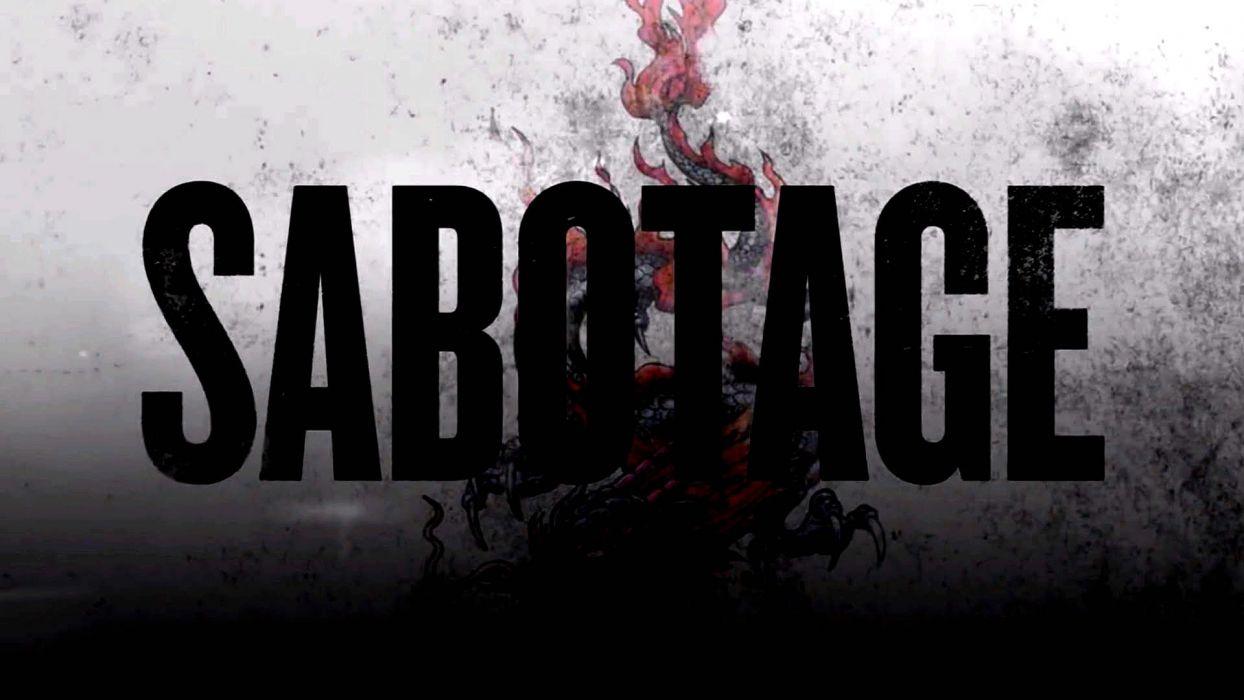 SABOTAGE action crime drama movie film poster wallpaper