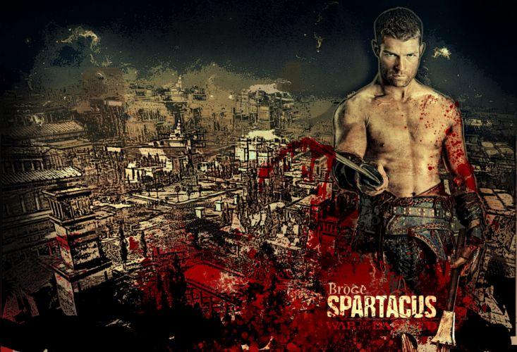 SPARTACUS series fantasy action adventure biography television warrior (18) wallpaper