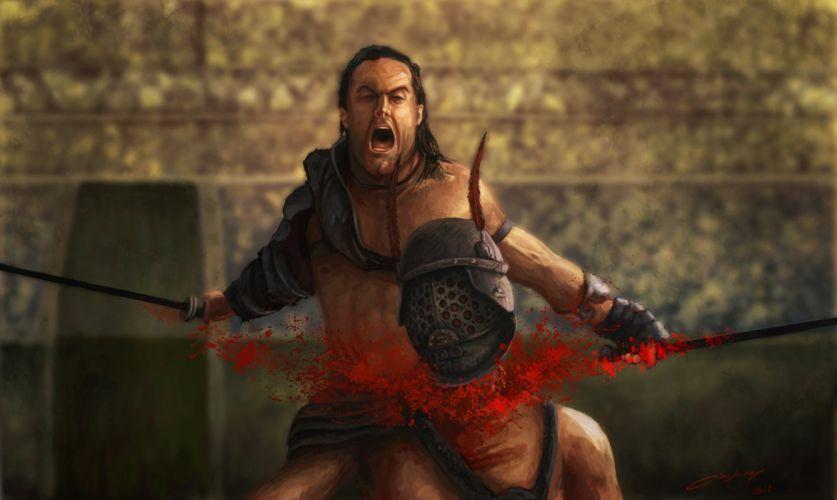 SPARTACUS series fantasy action adventure biography television warrior (103) wallpaper