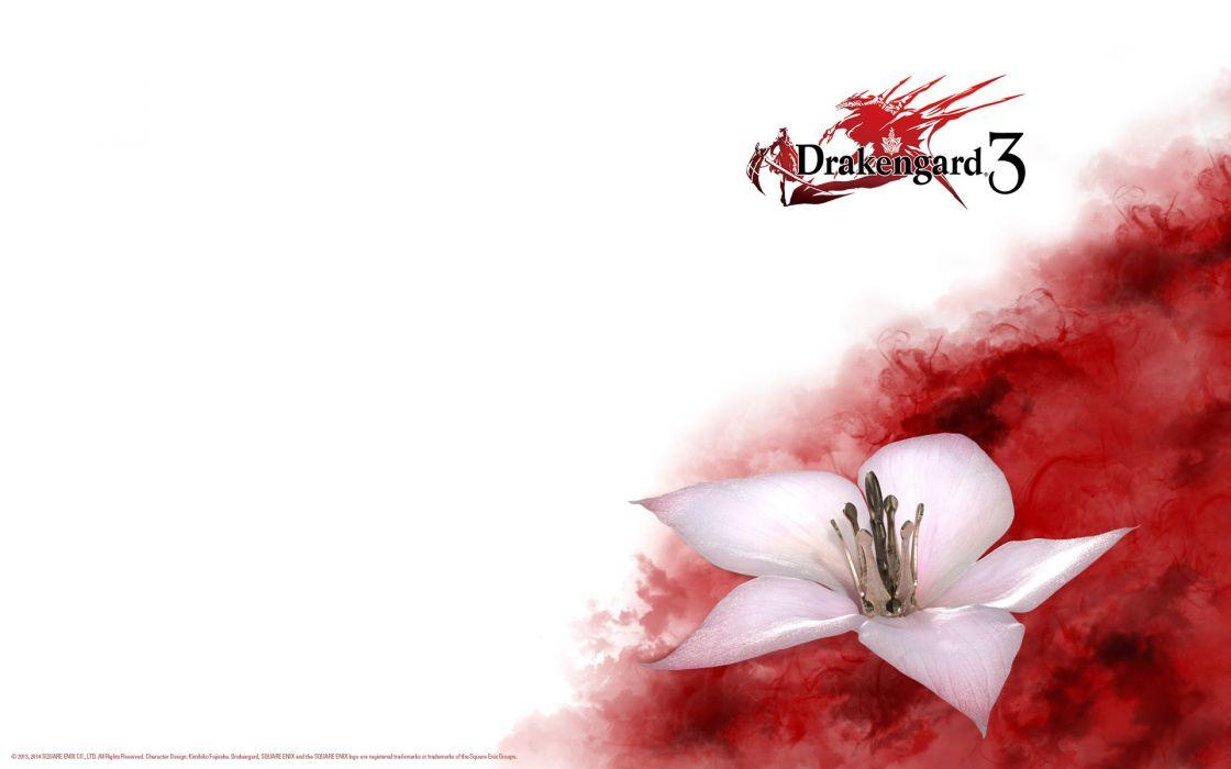 blood drag-on dragoon drakengard drakengard 3 flowers wallpaper