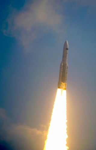 Ariane 5 ECA V188 lifts off with Herschel and Planck esa europe space wallpaper