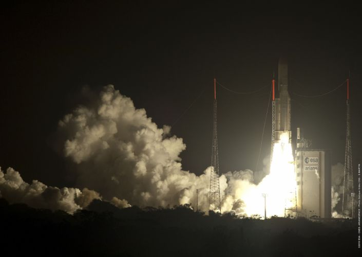 esa europe space Ariane 5 flight V197 liftoff wallpaper