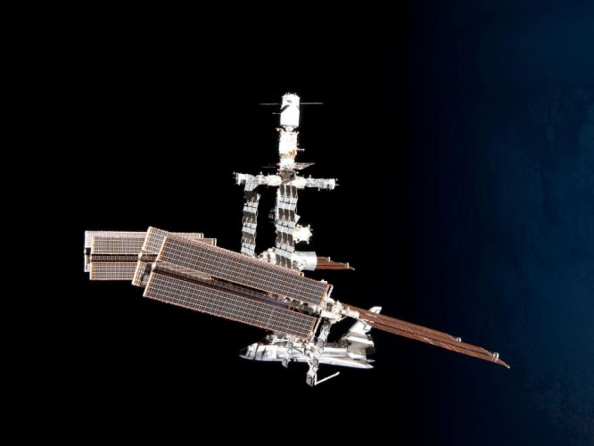 esa europe space the International Space Station and the Docked Space Shuttle Endeavour 3 wallpaper