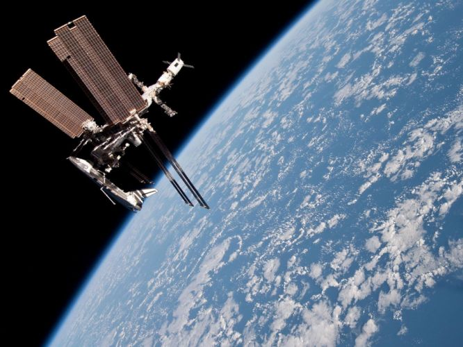 esa europe space The International Space Station and the Docked Space Shuttle Endeavour 2 wallpaper
