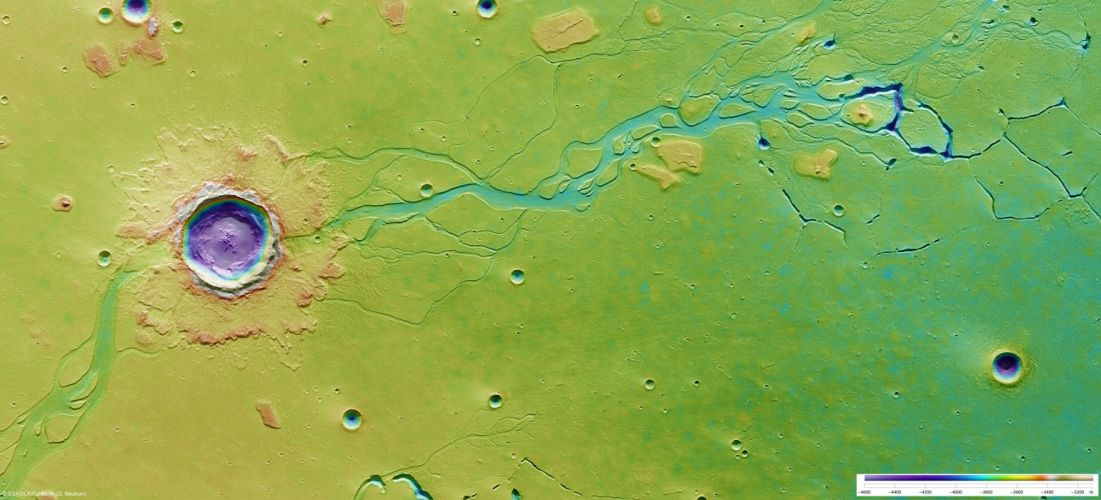 esa europe space The flood after the impact wallpaper