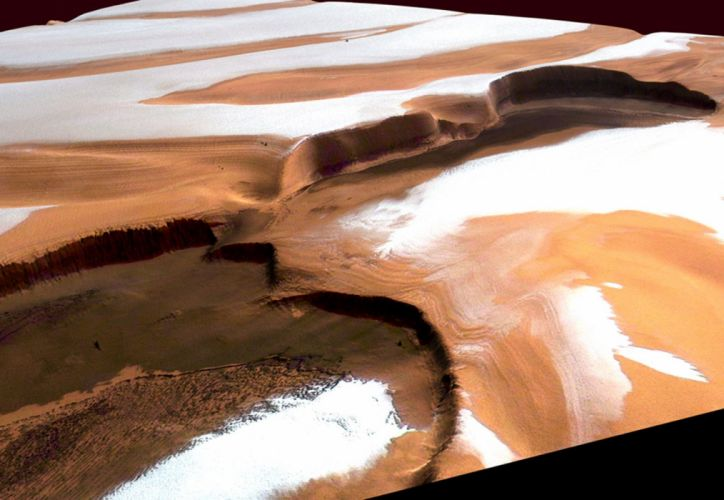 esa europe spaceIce and dust at martian north pole 1738x1200 wallpaper