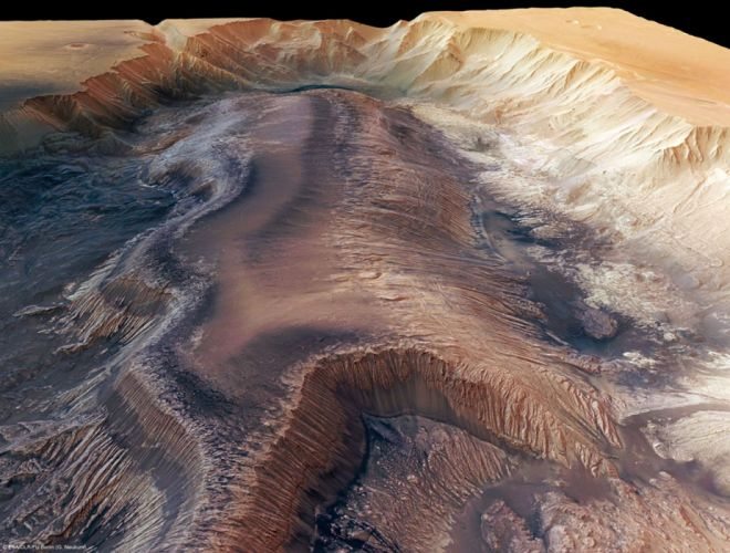 esa europe spaceHebes Chasma a trough in the Grand Canyon of Mars 1584x1200 wallpaper
