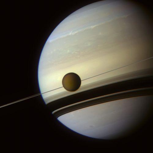 In the shadows of Saturnaeus rings esa europe space wallpaper