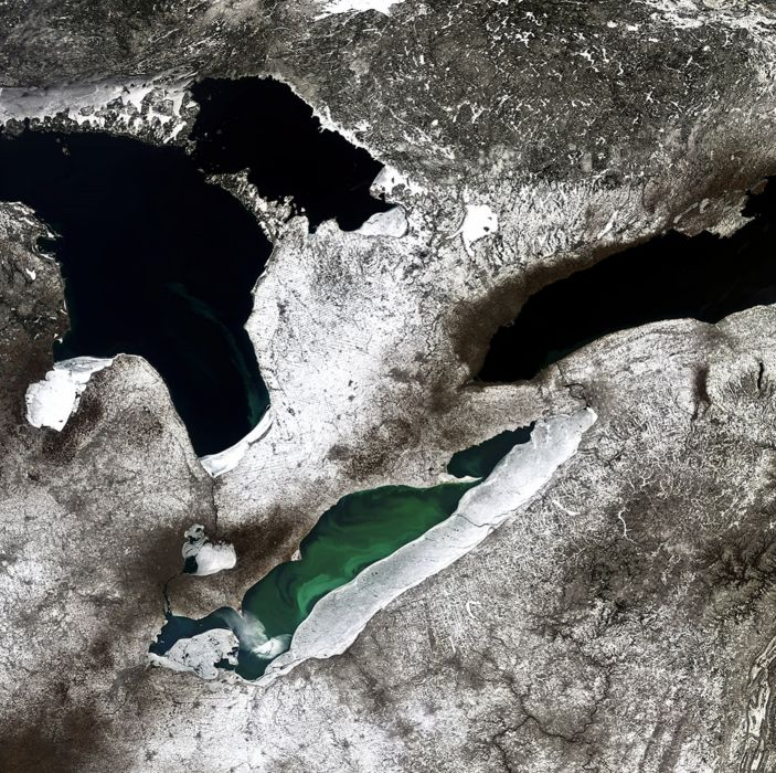 Great Lakes North America esa europe space wallpaper