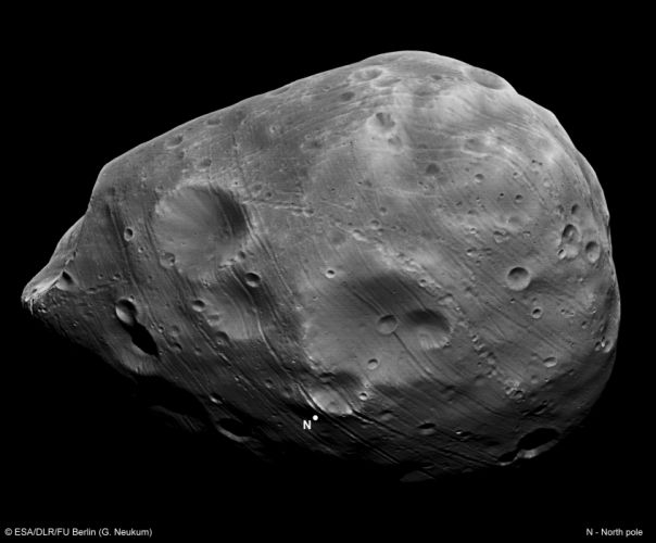 esa europe space Phobos seen by Mars Express wallpaper