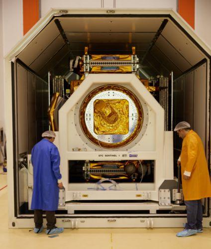esa europe space Sentinel-1A arrives in Kourou wallpaper