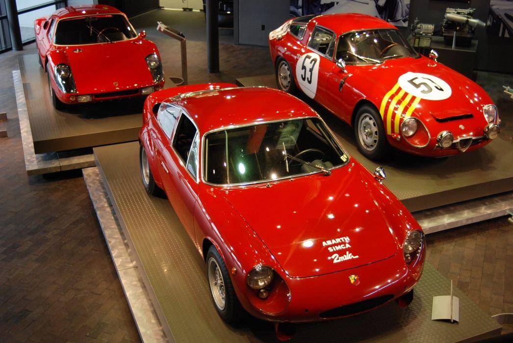 abarth sinca alfa romeo porsche gt sport racing classic car wallpaper
