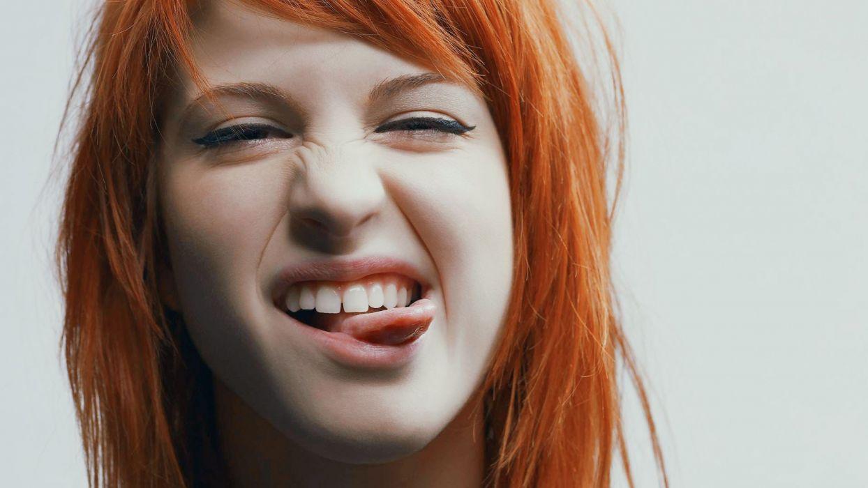 Hayley Williams Paramore women music redheads pop emo tongue singers alternative Hayley punk rock wallpaper