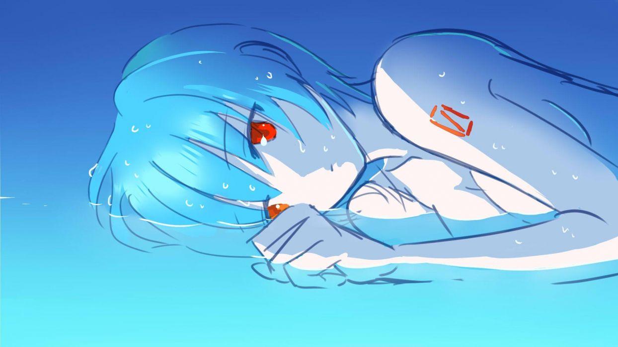 Ayanami Rei Neon Genesis Evangelion Rebuild of Evangelion rei anime anime girls wallpaper