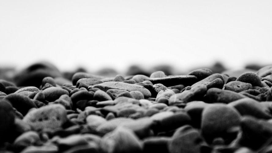 rocks monochrome wallpaper