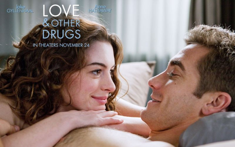 Anne Hathaway movies Love and Other Drugs Jake Gyllenhaal wallpaper
