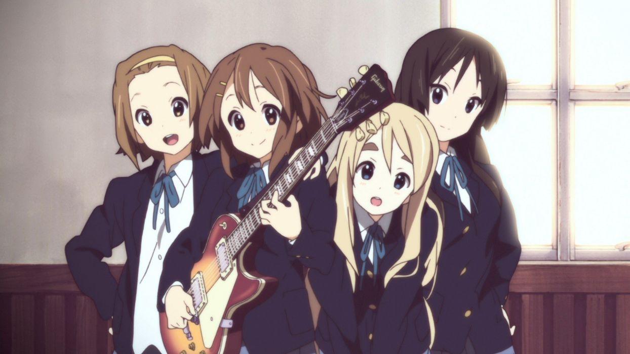 K-ON! Hirasawa Yui Akiyama Mio Tainaka Ritsu Kotobuki Tsumugi anime anime girls wallpaper