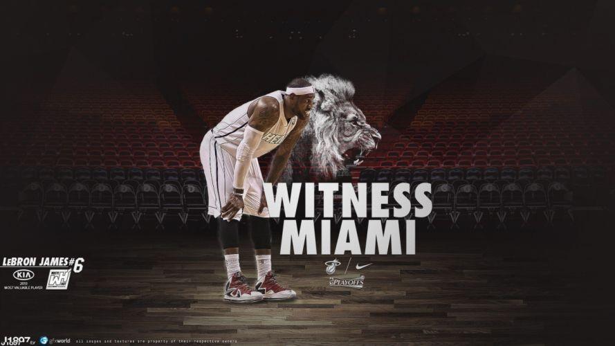 sports NBA basketball Lebron James Miami Heat basketball player wallpaper