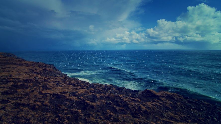 water ocean clouds landscapes nature waves sea shorelines waterscapes sea oceanscape wallpaper
