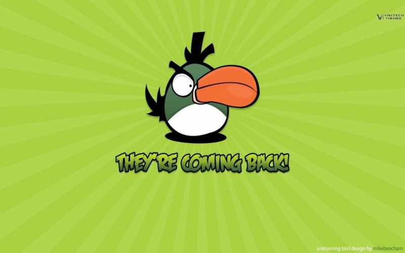 Angry Birds simple background wallpaper