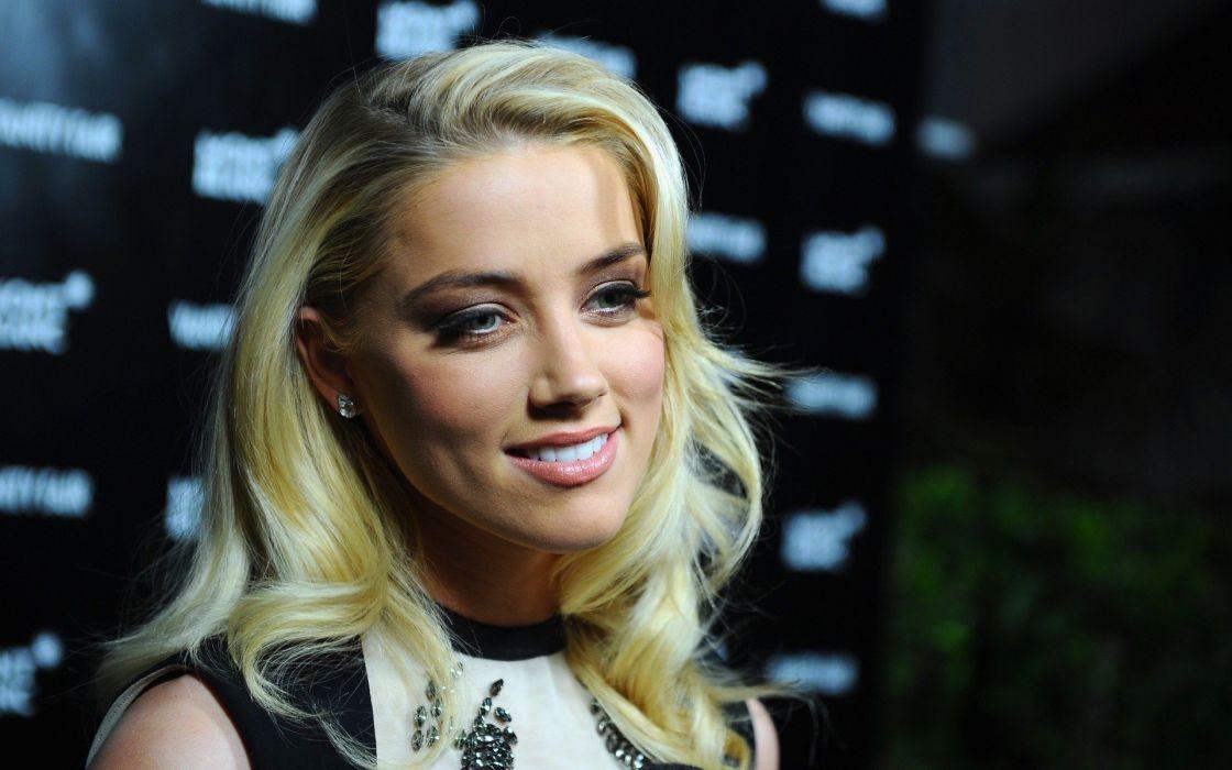 blondes women actress Amber Heard wallpaper