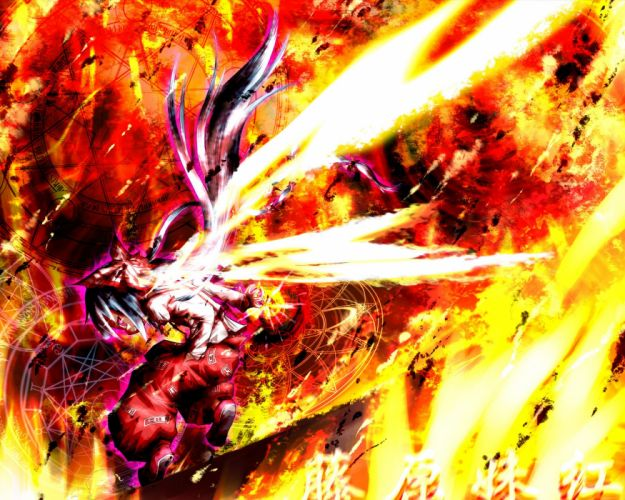 Touhou fire Fujiwara no Mokou wallpaper