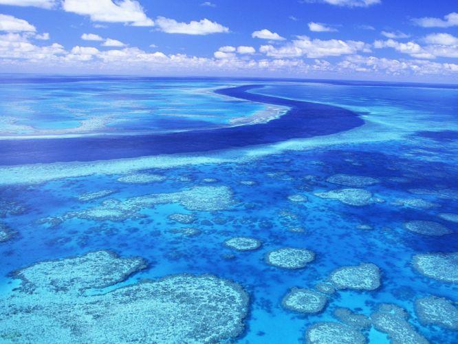 Australia Great Barrier Reef aerial view wallpaper