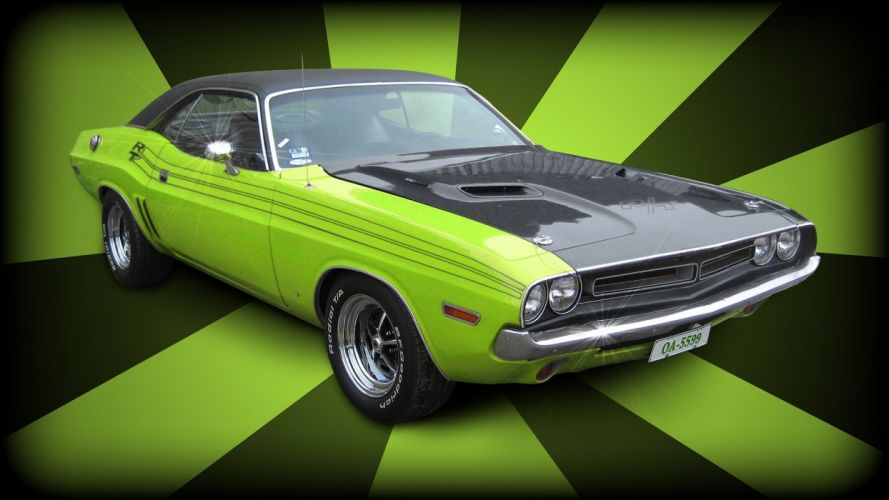 muscle cars Dodge Challenger 70's funk wallpaper