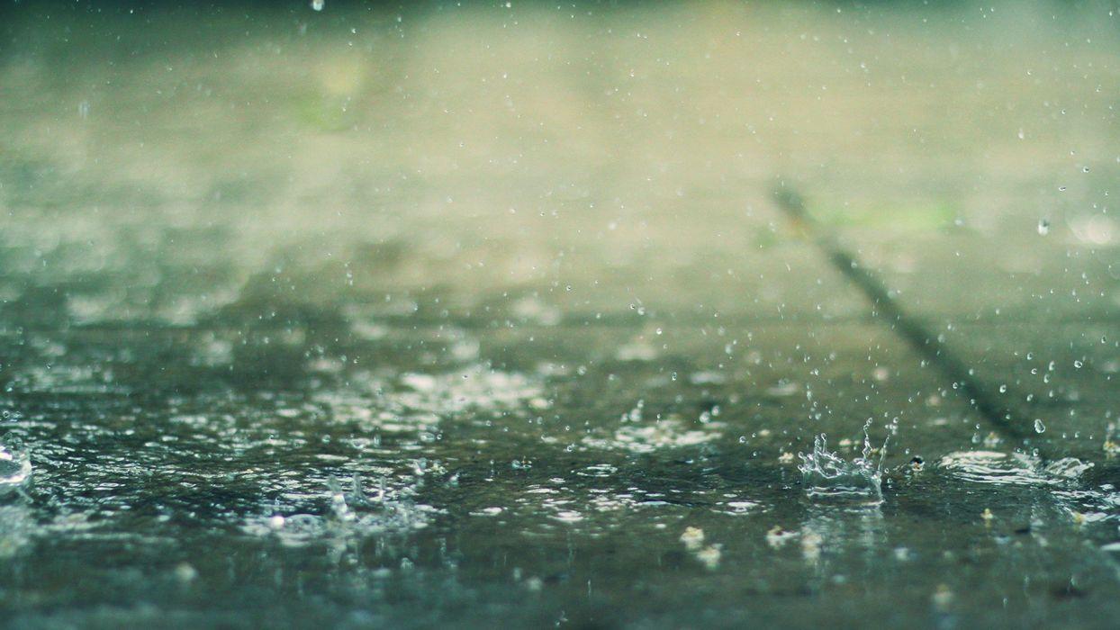 water rain water drops depth of field splashes wallpaper